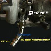 "45Deg 3/4"" oil return 360D Horizontal rotation IHI RHF5 RHB5"