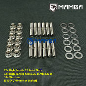 Turbo Turbine Housing Exhaust Manifold Stud 35mm M8x1.25 12 sets