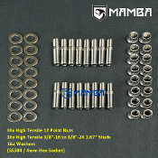 400-1403 Big Block Chevy 3/8 x 1.670 Stainless Steel stud kit
