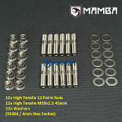 CNC Turbine Housing Exhaust Manifold Stud Kit 45mm M10x1.5 SS304