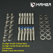 Turbo Turbine Housing Exhaust Manifold Stud Kit 55mm M10x1.25