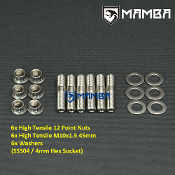 Turbine Housing Exhaust Manifold Stud Kit 45mm M10x1.5 SS304