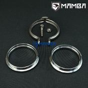 "3"" V-Band Flange Ring Clamp Kit For Dump Down Front Exhaust Pipe"
