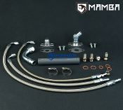 Turbo Oil & Water Line Kit For TOYOTA 1JZ-GTE JZX100 CT29R GT30R