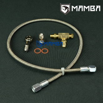 Turbo Oil Feed Line Kit M12x1.25 To Turbo 1.8mm Restrictor 100cm