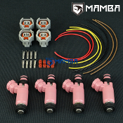 Genuine New Denso For Subaru GDA EJ25 STI Pink Injector(4Sets)